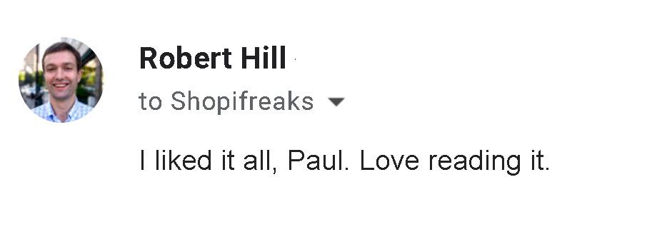 Robert Hill Testimonial
